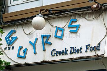 Gyros-Werbung