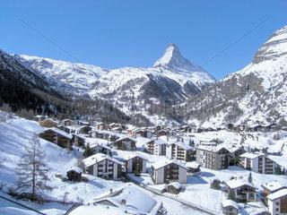 Schweizer Alpen mit Zermatt