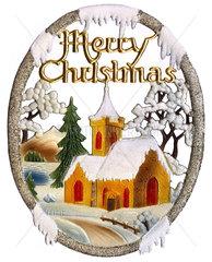 Merry Christmas  alte englische Weihnachtsdekoration  1959