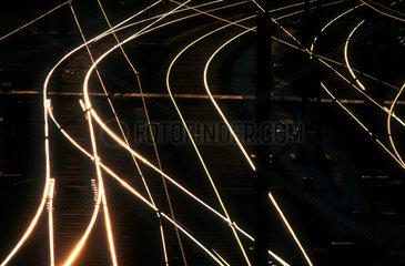 Gleise im Abendlicht