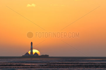 Sonnenuntergang Westerhever