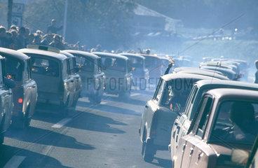 DDR-Buerger auf dem Weg nach Hof