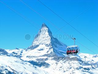 Schweizer Alpen bei Zermatt