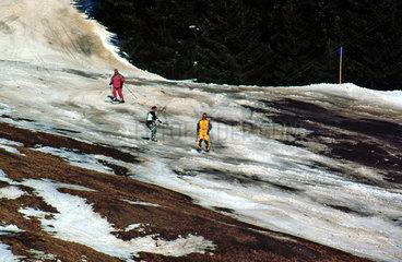 Erosion bei Skipisten