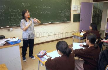 Matheunterricht in Hongkong