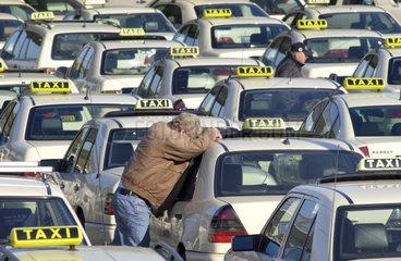 Taxis am Flughafen