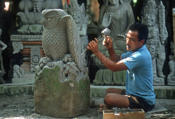 Steinmetz auf Bali