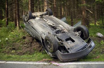 Unfall auf Landstrasse