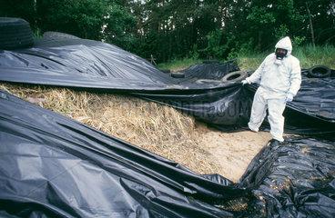 Probeentnahme von kontaminiertem Boden