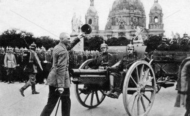 Deutscher Offizier in Siegesparade
