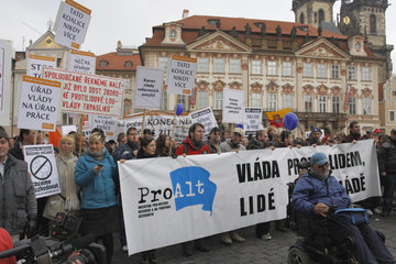 Demonstration von ProAlt in Prag
