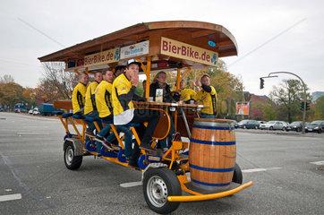 Bier- Bike auf St. Pauli