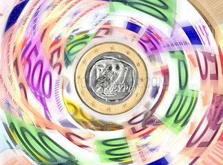 Symbolfoto Bankrott  Griechenland-Krise  Schuldenkrise  Staatspleite