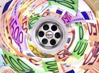 Symbolfoto Wirtschaftskrise  Bankrott  Griechenland-Krise