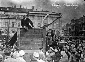 Lenin (1870-1924) Rede 5.5.1920 mit Trotzki (1879-1940 )