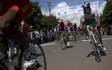 Cyclist race  Asmara  Eritrea