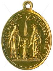 Heilige Familie beschuetze uns!  Medaille  um 1900