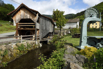 Haut Fer sawmill dating from 1878  the chanel  Lepuix  Territoire de Belfort (90)  France