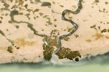 Aerial photography. Bahìa de Cadiz  Spain