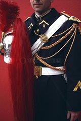 Uniform and cap of a Republican Guard in ceremonial dress