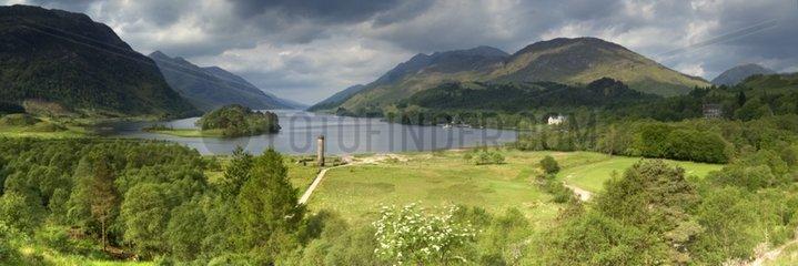 The Glenfinnan Monument and Loch Shiel Scottish Highland