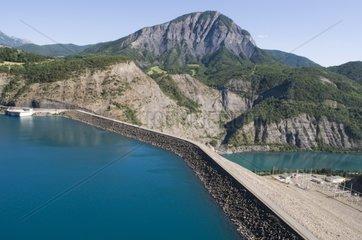 Serre Ponçon artificial lake and dam France