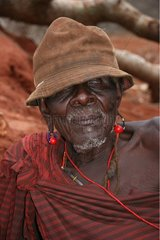 Portrait of a Ndorobo old man suffering from cataract