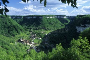 View-point of Grange sur Baume in the Jura France