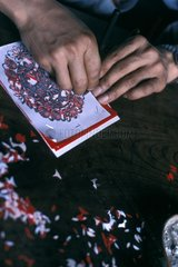 Someone making a Xitang drawing in China