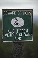 Control Prevention Lions Addo Elephant NP