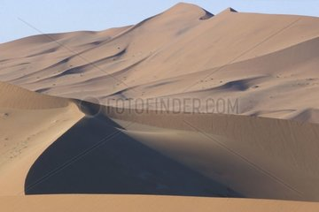 Landscape of dunes Sossusvlei Namibia