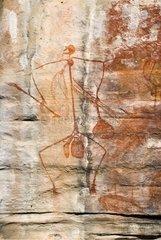Australian aboriginal painting over rock in Ubirr Kakadu NP