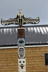 Indian Totem in the town of Churchill Canada