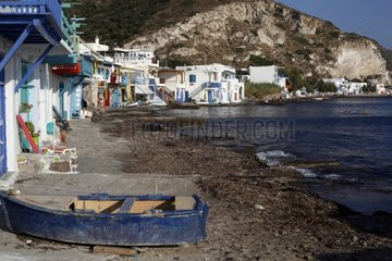 Klima fishing port of Milos Island Cyclades Greece