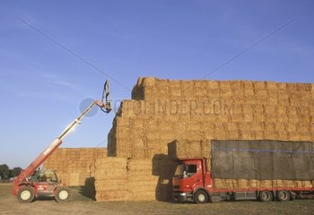 Storage and transport of the straw in large boots France