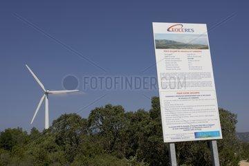 Eolienne du parc éolien de Souleilla et Corbière