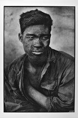 Portrait of a minor face full of dust Vietnam
