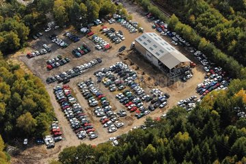 Junk yard for cars in the countryside Correze France