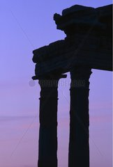 Raising of Moon on Apollo temple Turkey