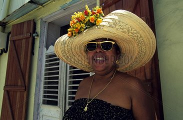 Portrait of an Antillean woman in St Pierre Martinique