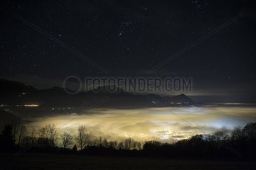 Air and light pollution on the middle valley of the Arve  Cluses  France