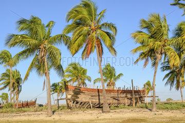 Boatyard in Belo sur Mer  madagascar