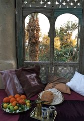 Fruit platter and beverages Fayoum in Egypt