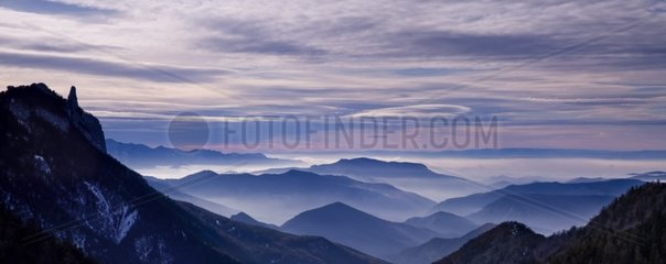 The tooth of Die and ridges Vercors France