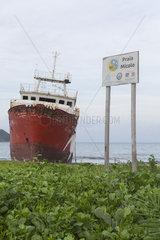 Boat Cemetery  Micolo Beach  Sao Tome and Principe Island