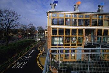 La cité écologique Bedzed à Londres Royaume Uni