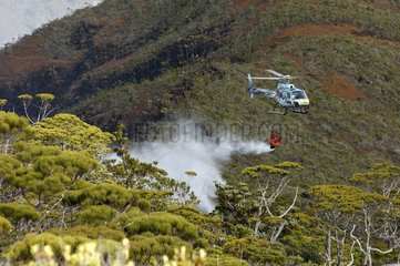 Water bomber helicopter of New Caledonia