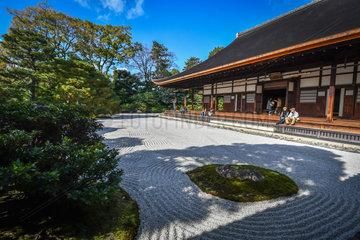 Kenninji's rock garden  Kyoto  Japan