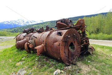 Old steam locomotive abandoned - Alaska USA