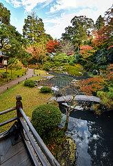 Japanese garden at Shoren-in in Japan  Kyoto  Japan